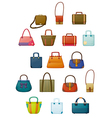 Different designs of bags vector image vector image