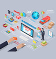 e-commerce global internet purchasing concept vector image