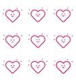 emoticons pink icon set in vector image vector image