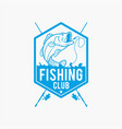 fishing logo badge 8 vector image vector image