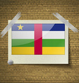 Flags Central African Republic at frame on a brick vector image