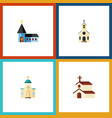 flat icon building set of religion christian vector image vector image