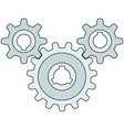 gear wheel transmission vector image vector image