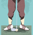 golfer feet on golf course vector image