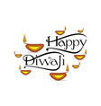 happy diwali holiday of india poster design vector image