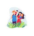 happy family concept vector image vector image