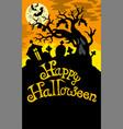 happy halloween theme 6 vector image vector image