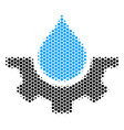 hexagon halftone water service icon vector image