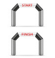 inflatable line start finish for sport vector image vector image