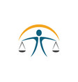 lawyer logo template icon vector image vector image