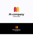 m company vector image vector image