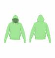mens green hoodie vector image
