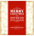 Merry Christmas invitation card ornament decoratio vector image vector image