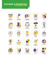 modern material flat design icons - business and vector image