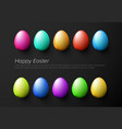 modern minimalist colorful happy easter card vector image vector image