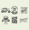 motorcycles and biker club templates vintage vector image vector image