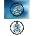 Nautical themed old sailor badge vector image vector image