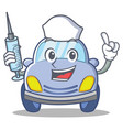 nurse cute car character cartoon vector image vector image