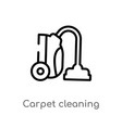 outline carpet cleaning icon isolated black vector image vector image