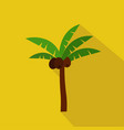 palm cartoon flat icon brazil summer vector image vector image
