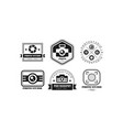 photo studio logo set photography black retro vector image vector image