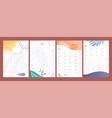 planners set to do lists weekly and daily vector image vector image
