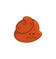 poop cartoon character - angry emoticon of poo vector image vector image