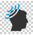 Radio Reception Head Icon vector image vector image