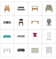 realistic couch stool boss armchair and other vector image vector image