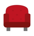red one seat sofa vector image vector image