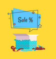 sale banner with speech bubble poster vector image vector image