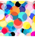 Seamless colorful graphic background with circles vector image