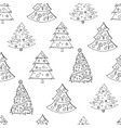 seamless festive pattern with hand-drawn vector image vector image