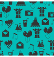 Seamless holiday pattern festive background vector image vector image