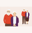senior couple vector image vector image