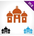 Set color icon Church vector image vector image