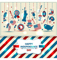 Set of color independence day vector image