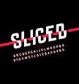 sliced font vector image vector image