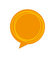 speech bubble message icon vector image vector image
