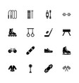 sports - flat icons vector image vector image