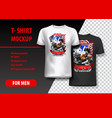 t-shirt template fully editable with bikers
