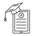 test a graduate icon outline style vector image