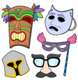 various masks collection 2 vector image