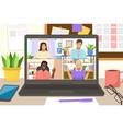 video conference landing online business vector image