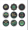 vintage labels purple and green set 2 vector image vector image