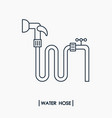 water hose outline icon vector image vector image