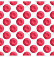 Watercolor seamless pattern red polka dot retro vector image