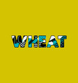 wheat concept word art vector image vector image