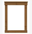 wooden antique window or door frame vector image vector image