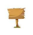 Wooden signboard isolated vector image vector image